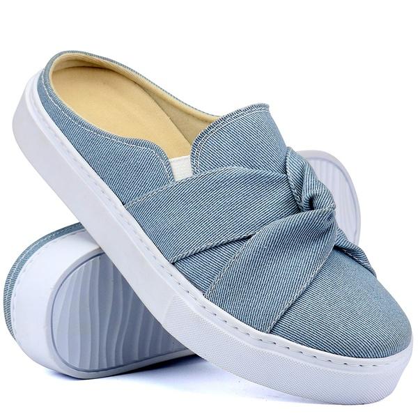 Mule Casual Feminino Mr. Gutt Lançamento Jeans