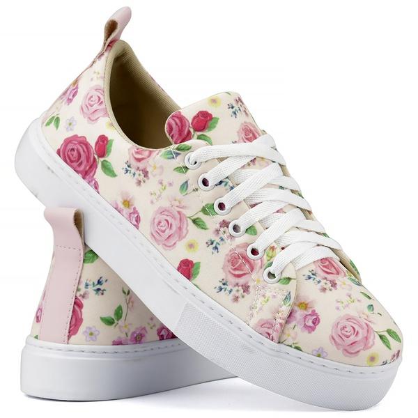 Tênis Floral Feminino Mr. Gutt - Linha Primavera