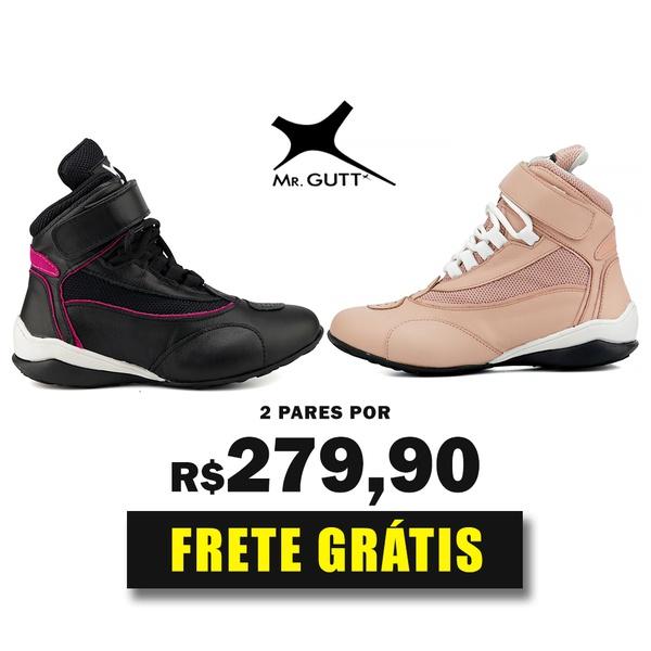 Combo Fit - Kit 2 pares Bota Fitness Treino - Preto/Rosê