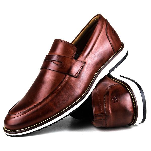 Brogue Premium Couro Comfort Havana Andora 8001