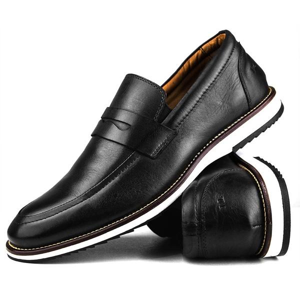 Brogue Premium Couro Comfort Preto Andora 8001