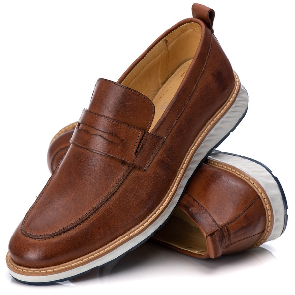 Loafer Elite Couro Premium Castor 9001