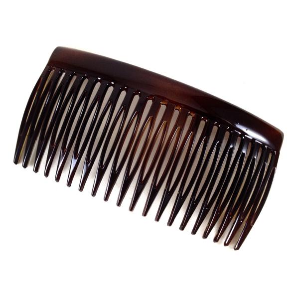 Pente médio 20 dentes prendedor 9,0x5,0cm Tartaruga de Acetato Musa Kalliopi