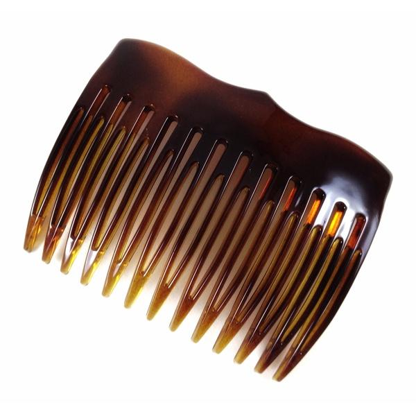 Pente médio 13 dentes prendedor 6,5x5,0cm Tartaruga de Acetato Musa Kalliopi