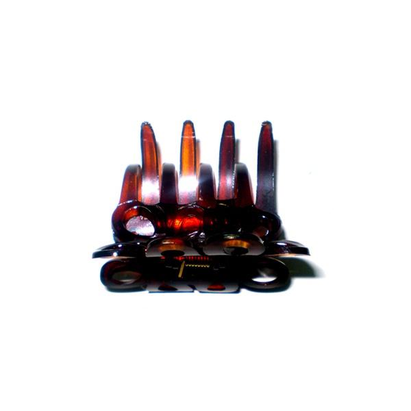 Prendedor Médio 5,5x4,0cm Tartaruga de Acetato Musa Kalliopi