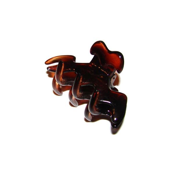Prendedor Médio 6,5x3,0cm Tartaruga de Acetato Musa Kalliopi