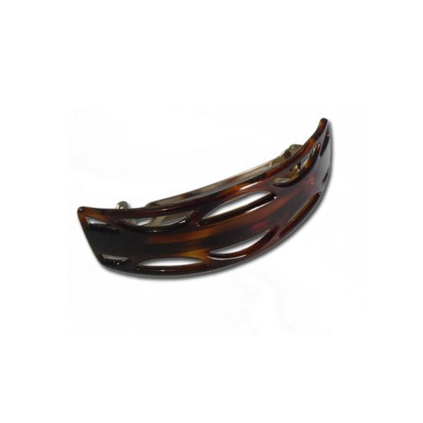 Presilha com detalhes 10,5x3,0cm Tartaruga de Acetato Musa Kalliopi