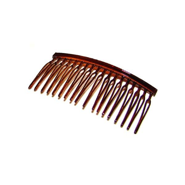 Pente médio 18 dentes prendedor 6,5x3,5cm Tartaruga de Acetato Musa Kalliopi