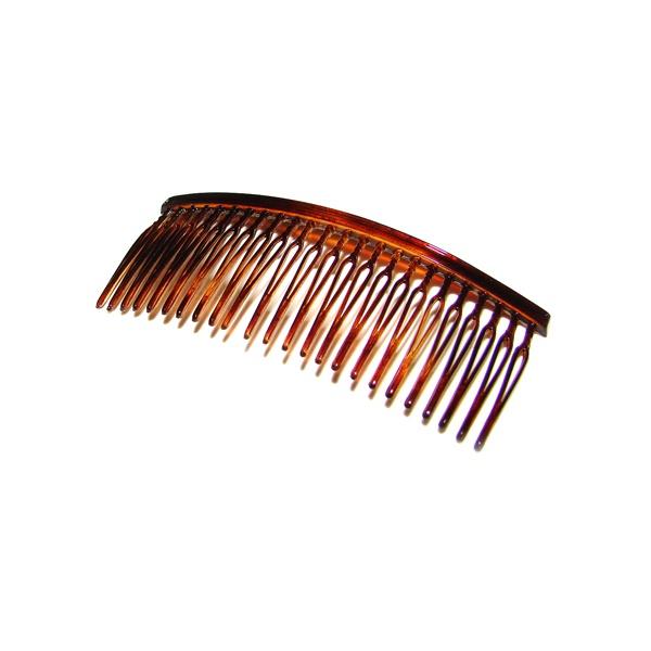 Pente médio 24 dentes prendedor 9,0x3,5cm Tartaruga de Acetato Musa Kalliopi