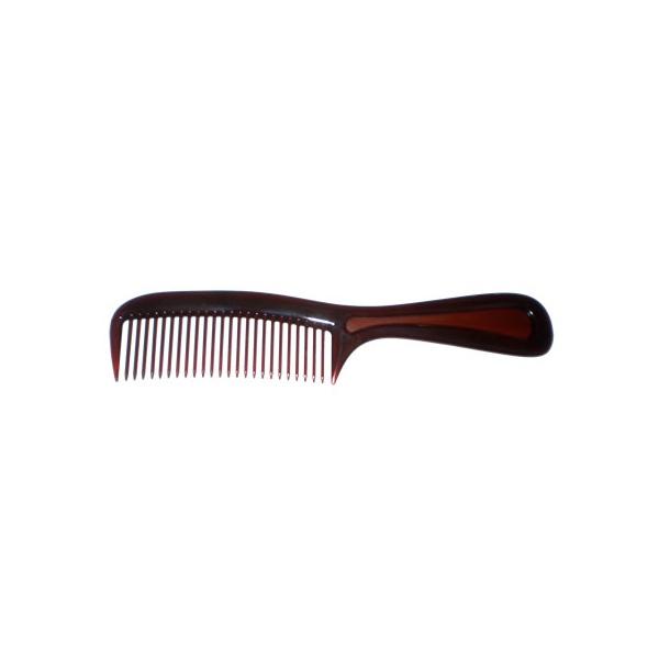 Pente dentes largos 21,5x4,0cm Tartaruga de Acetato Musa Kalliopi