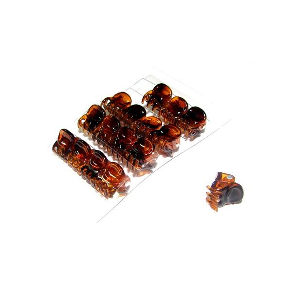 Mini Prendedor conjunto de 16 peças 2,5x1,5cm Tartaruga e Preto de Acetato Musa Kalliopi