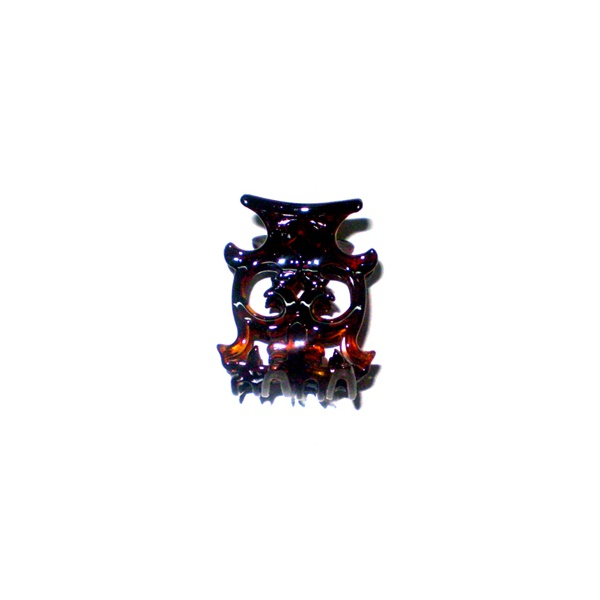 Prendedor Pequeno 5,0x4,0cm Tartaruga de Acetato Musa Kalliopi