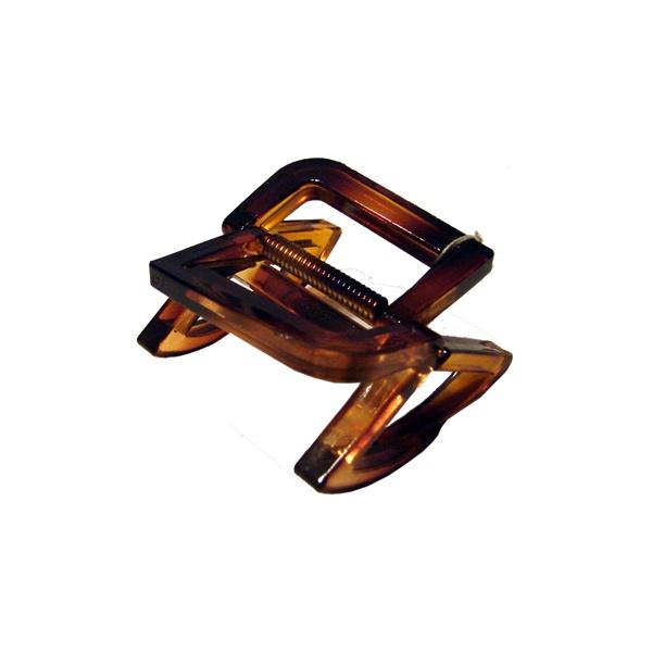 Prendedor Médio 5,5x5,0cm Tartaruga de Acetato Musa Kalliopi