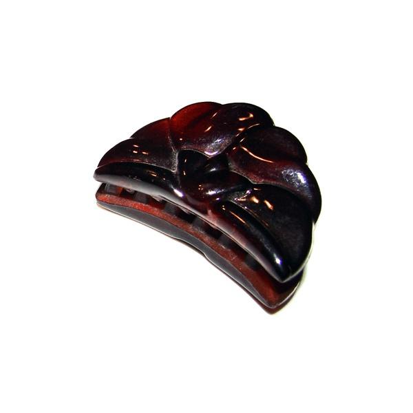 Prendedor Pequeno 4,5x2,5cm Tartaruga de Acetato Musa Kalliopi
