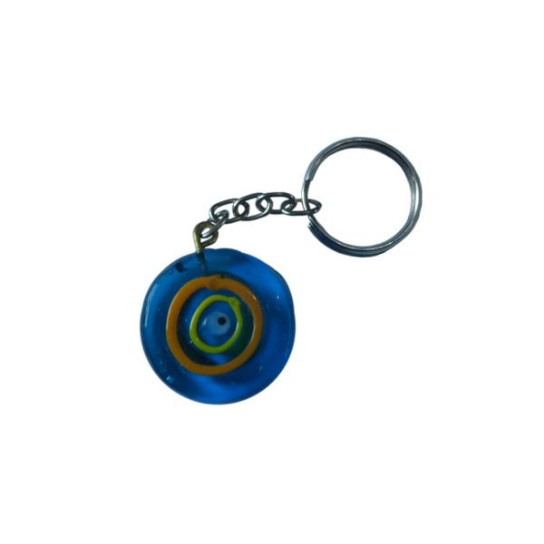 Chaveiro de Olho Grego: Azul de vidro Musa Kalliopi