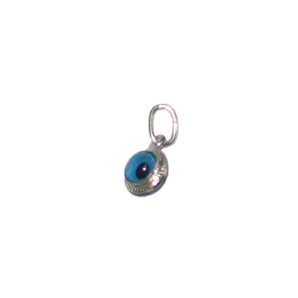 Pingente Tamanho: 0,7 x 0,7 lg cm de prata Olho Grego: a tendência que atrai sorte e proteção semi joias finas Musa Kalliopi