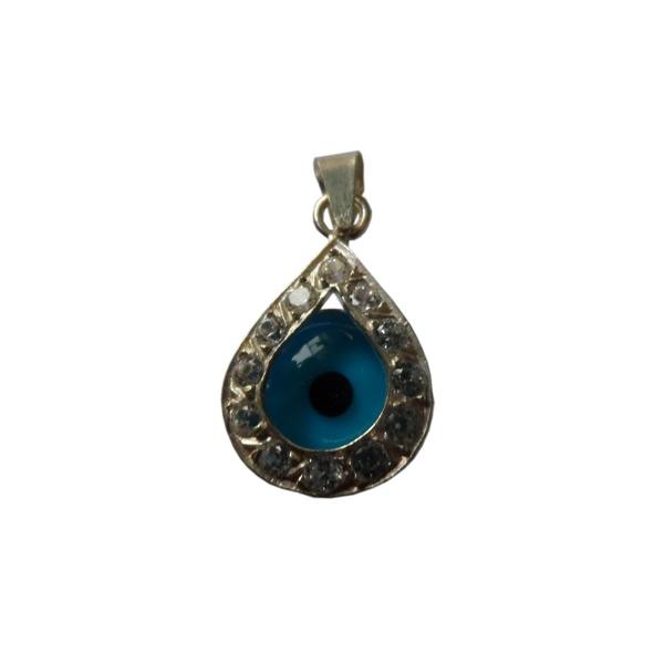 Pingente Tamanho: 1,1 x 0,5 lg cm de prata Olho Grego (gota) : a tendência que atrai sorte e proteção semi joias finas Musa Kalliopi