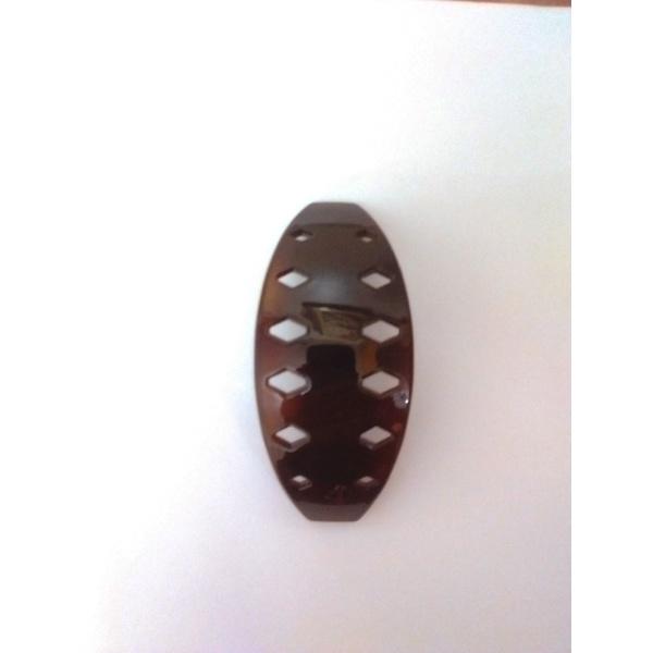 Presilha com detalhe 10,0x4,0cm Tartaruga de Acetato Musa Kalliopi