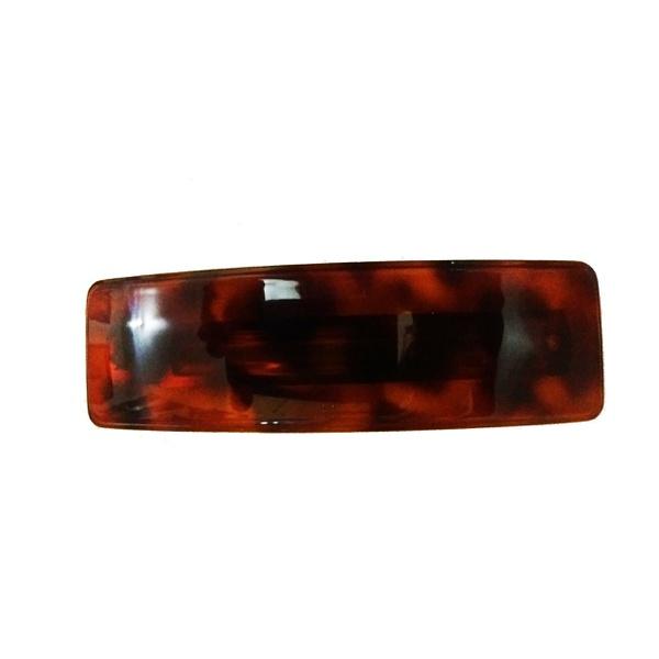 Presilha lisa 10,0x2,5cm Tartaruga de Acetato Musa Kalliopi