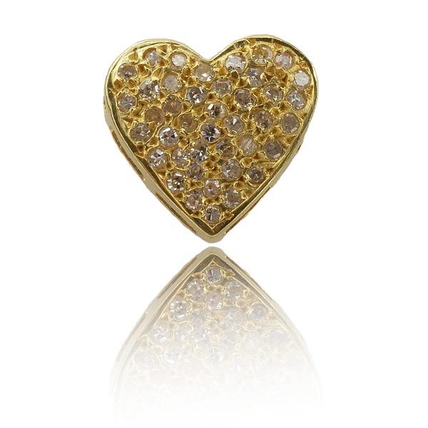 Pingente Coração Com Diamantes
