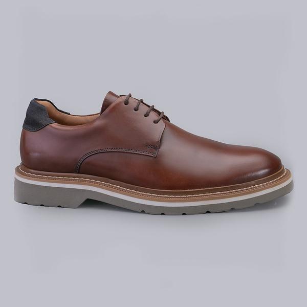 Sapato Casual Masculino Nevano Barry - Whisky/Marinho