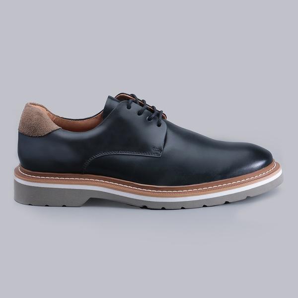 Sapato Casual Masculino Nevano Barry - Preto/Cromo