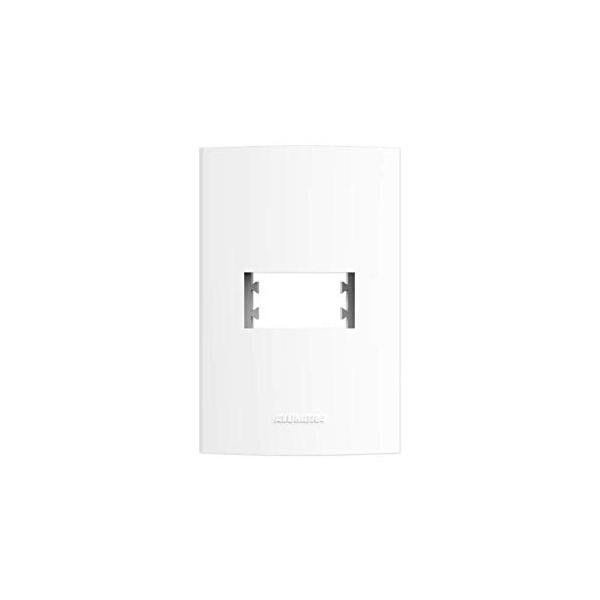 Placa 4x2 1 Modulo Horizontal Branco - Inova Pro