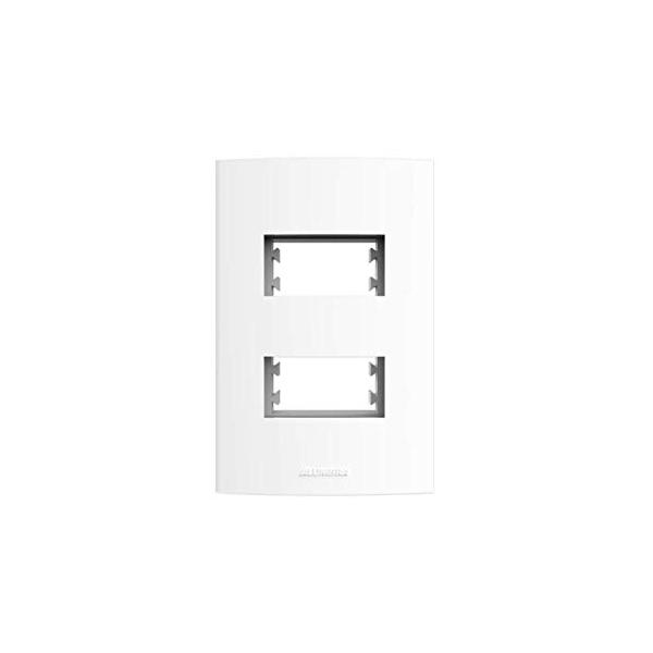 Placa 4x2 2 Modulos Distanciados Branco - Inova Pro