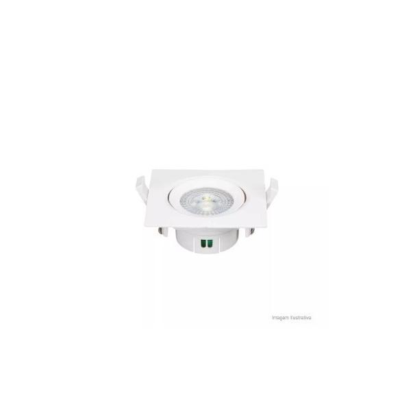 Spot LED De Embutir Quadrado 5W 3000K Volare