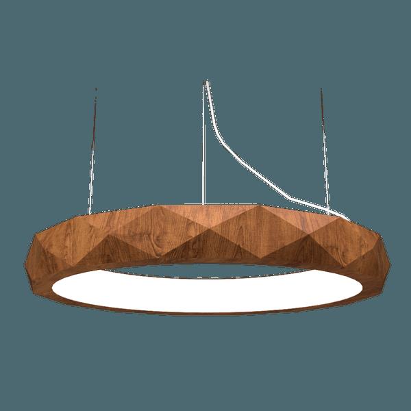 Pendente Anel Facetado Horizontal Imbuia 100x12