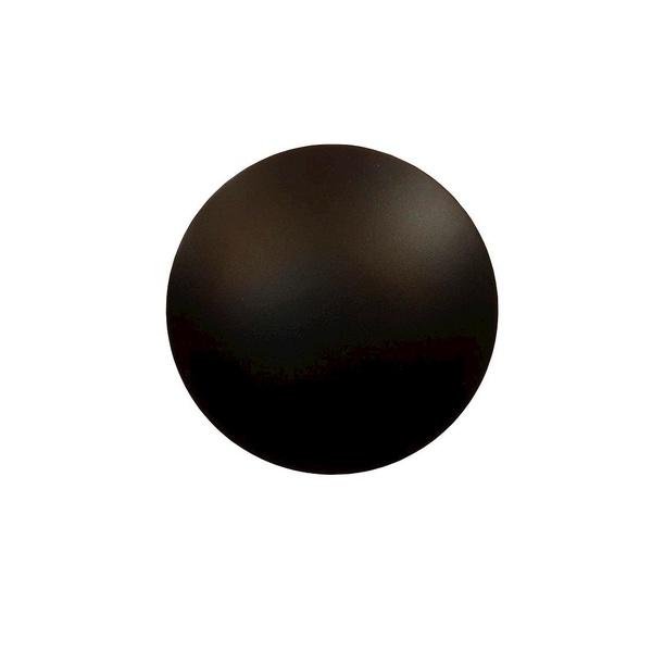 Arandela Disco Externa Preto - 12W