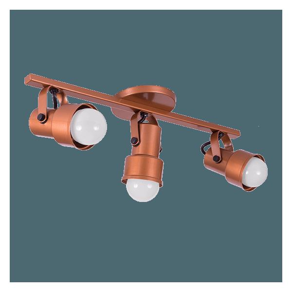 Spot Trilho cobre 3 lampadas