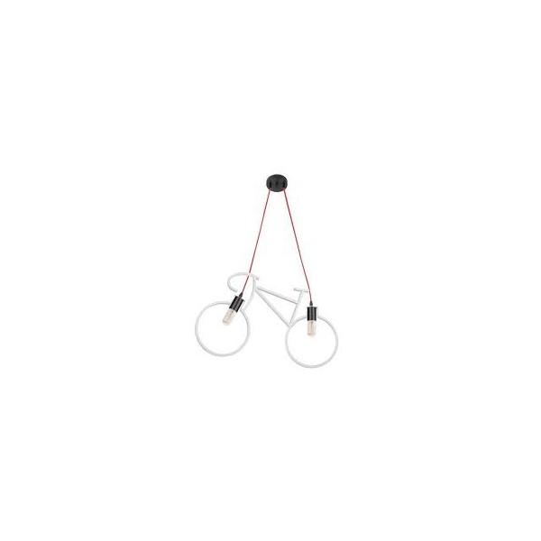 PENDENTE BIKE LIGHT BRANCO