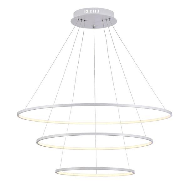 Pendente Birdie Dourado Ø80cm Bella Com 3 LEDs Integrados 39w 3200K Branco Quente