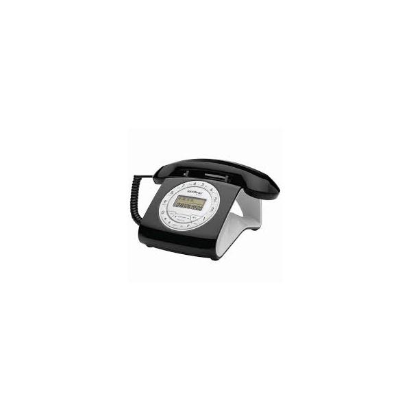 Telefone Com Fio Retrô Intelbras TC 8312 Preto.