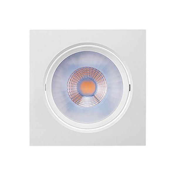 Spot Embutir Quadrado LED Integrado Branco Brilia 3W - 2700K