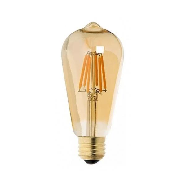 Lâmpada Filamento Led ST64 4W 2200K Vidro Âmbar Bivolt MB - Led 1048