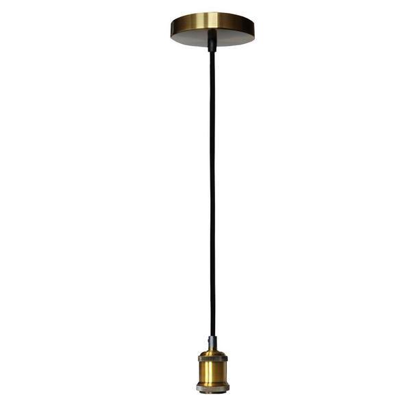 Pendente de Teto Industrial Metal Bronze Atelier Luz - Silmar E27