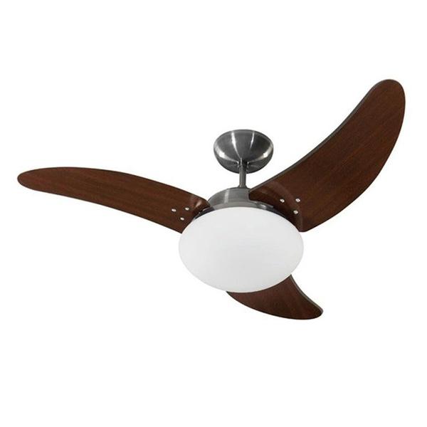 Ventilador de Teto Solano Escovado/Tabaco 110V Tron 51.01-1020