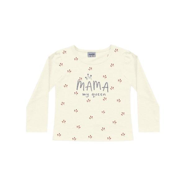 Blusa Manga Longa Fakini Bebê Feminina Mama My Queen tamanho 1-2-3
