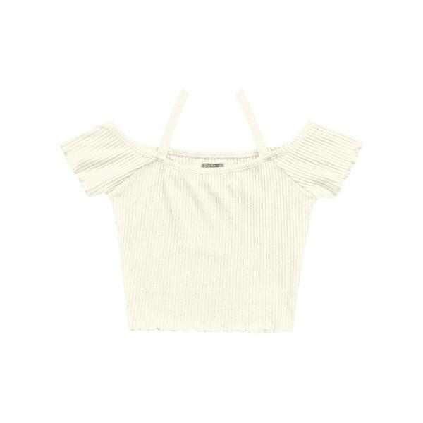 Blusa Cropped Fakini Infantil Feminina 12-14-16 Bege