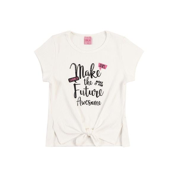 Blusa Dila Infantil Feminina Canelada Tamanho 12 ao 16