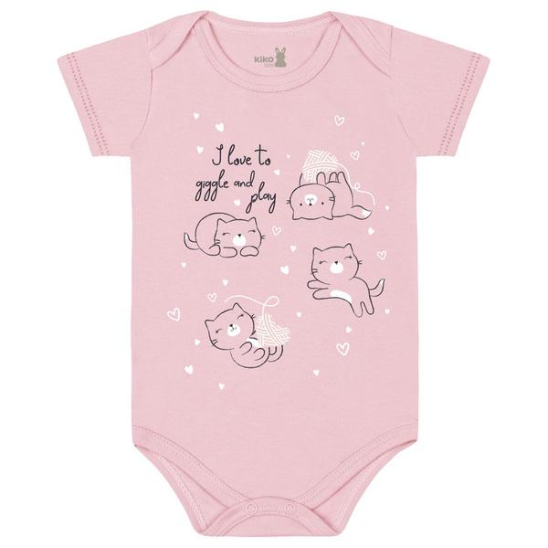 Body Kiko Baby Bebê Feminino RN ao G - Rosa Claro