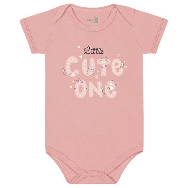 Body Kiko Baby Bebê Feminino RN ao G - Salmão Estampado