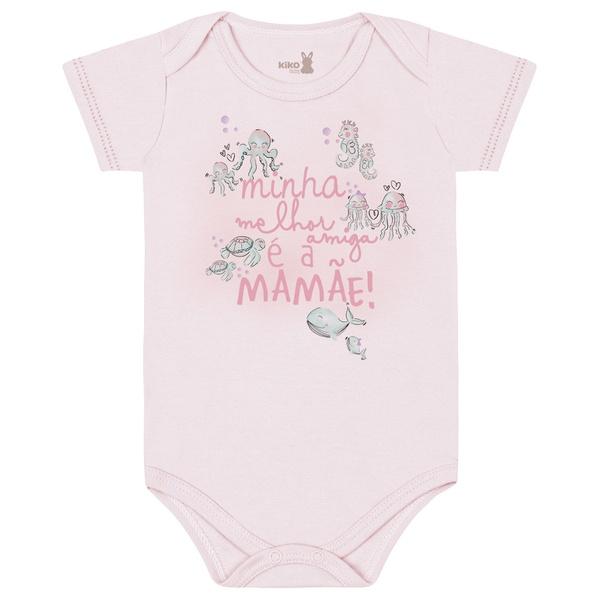 Body Kiko Baby Bebê Feminino RN ao G - Frase Mãe