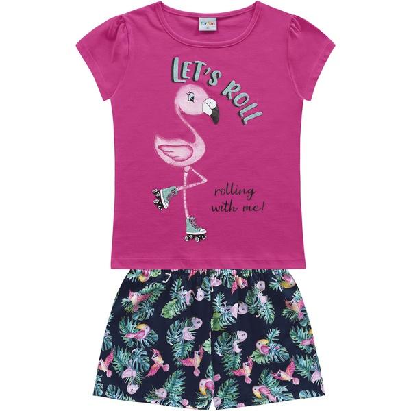 Conjunto Fakini Infantil Feminino 4-6-8 Pink