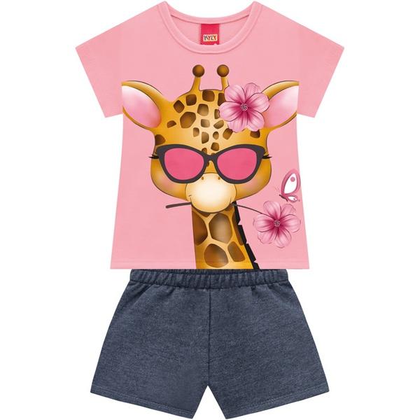 Conjunto Kyly Bebê Feminino Girafa