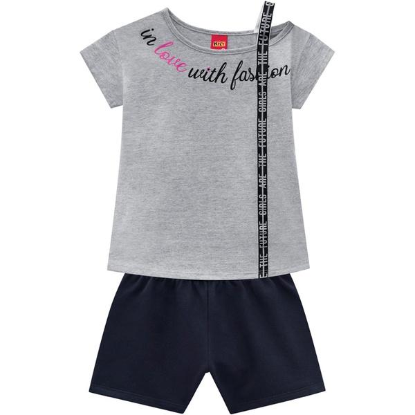 Conjunto Kyly Infantil Feminino Blusa + Short Moletom