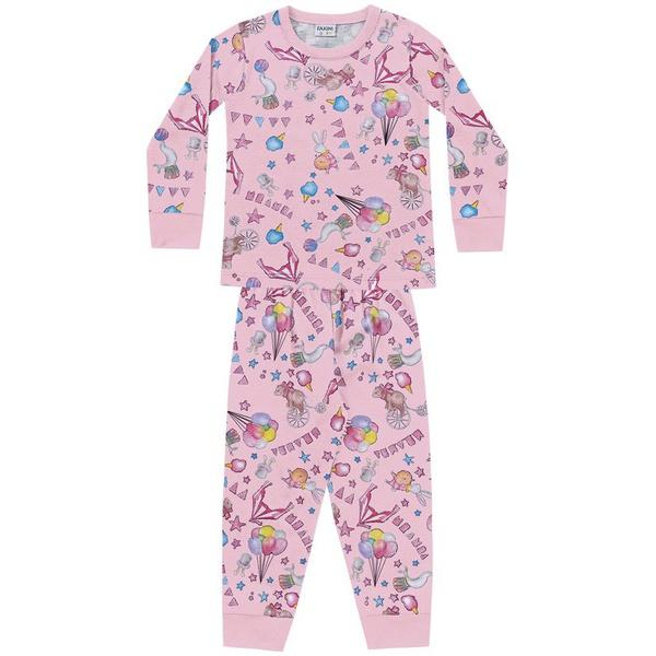 Pijama Manga Longa Fakini Bebê Feminino Tamanho 1-2-3