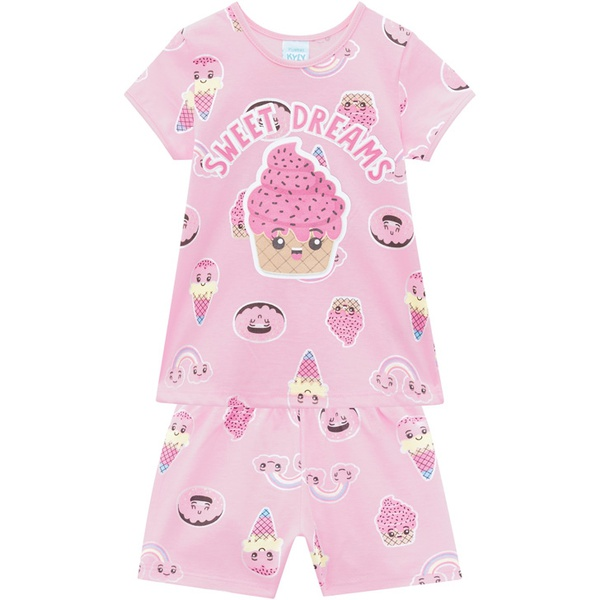 Pijama Kyly Bebê Feminino Estampa Cupcake - Brilha no Escuro